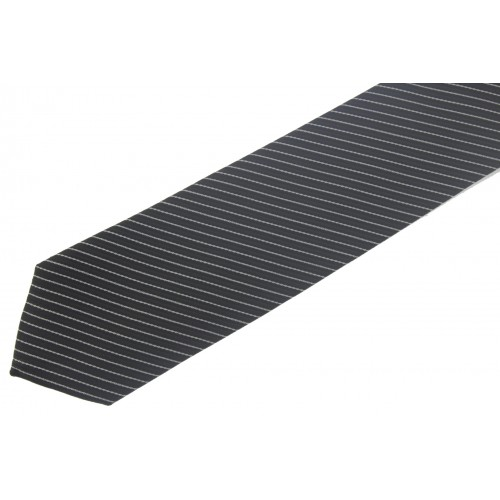 d93e1d95099 Ανδρική Γραβάτα Μαύρη Ριγέ 7 cm - 3142