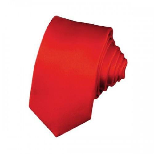 e4cb80ab84a Μονόχρωμη Νεανική Ανδρική Γραβάτα 5cm - Κόκκινο - 1412 Μόδα