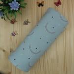Χειροποίητη Βρεφική Πάνα Αγκαλιάς Κουβερτούλα Βαμβακερή Μουσελίνα Rainbows Dusty 67cmx67cm
