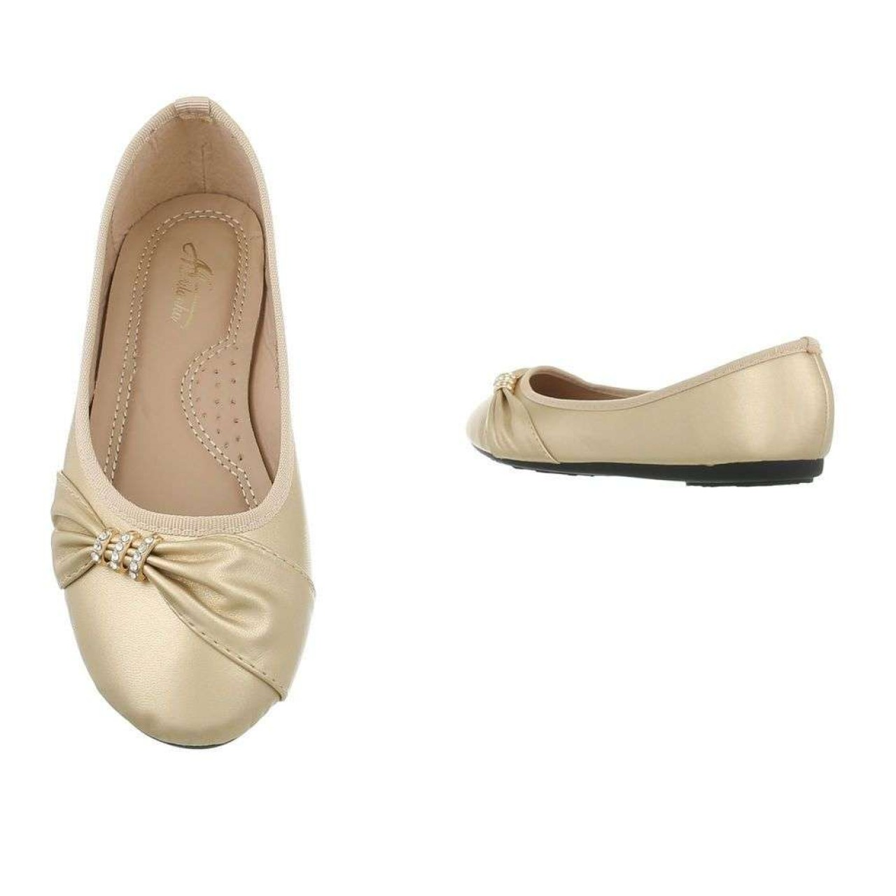 Γυναικεία Παπούτσια Μπαλαρίνα Μπεζ - 4068
